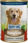 Консервы Happy Dog NaturLine Телятина с индейкой для собак