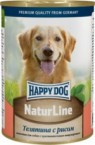 Консервы Happy Dog NaturLine Телятина с рисом для собак