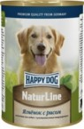 Консервы Happy Dog NaturLine Ягненок с рисом для собак